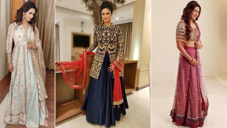 Diwali 2018 Outfit Inspiration – Divyanka Tripathi Dahiya: Take Some Style Cues From This Pretty Actress on How to Style Your Ethnic Wardrobe for This Festive Season