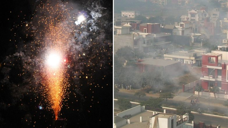 On Diwali, SC Time Limit on Bursting of Firecrackers Defied In Delhi, Punjab, Haryana, Maharashtra Among Other States; Air Quality Goes Worse