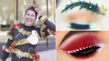 Christmas Beauty and Fashion 2018: Tinsel Hair and Candy Cane Eyeliners, All The Chillest Trends For The Holiday Season