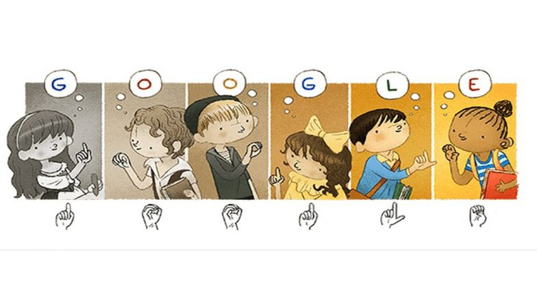 Google's Tribute to the 'Father of the Deaf' Aka the First Sign Language Educator, Charles-Michel De l'Epee by This Animated Doodle