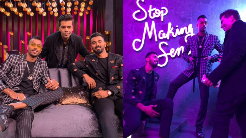 Koffee With Karan 6: Get Ready to See Hardik Pandya and KL Rahul's 'Brew-Mance' on Karan Johar's Show – View Pics