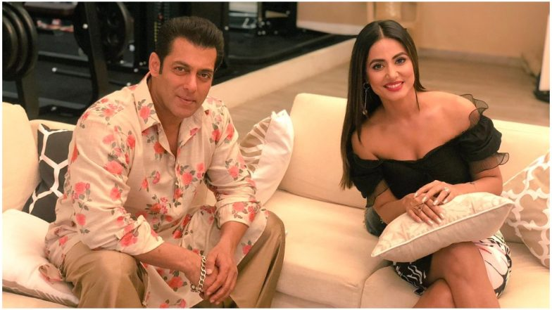 Bigg Boss 12: Salman Khan Gives Some Workout Tips to Hina Khan As They Chat Over a Cup of Coffee – View Pics