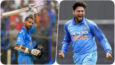 Latest ICC T20I Rankings: Kuldeep Yadav Jumps 20 Places to be in the TOP 5 For the First Time; Shikhar Dhawan Attains Career-High as Well
