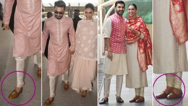 So Cool! Did Ranveer Singh Just Step Out Wearing Wife Deepika Padukone's Shoes? View Pics