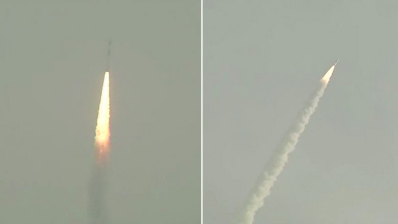 ISRO Successfully Launches HysIS, India's Earth-Mapping Satellite on PSLV-C43 From Sriharikota, 30 Other Commercial Satellites on Board; Watch Video