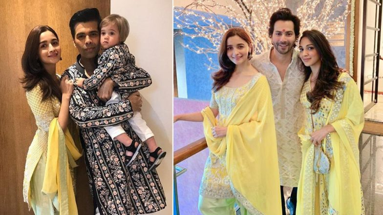 Karan Johar, Yash-Roohi celebrate Diwali 2018 at Dharma Productions, Alia Bhatt, Varun Dhawan and Others Attend Lakshmi Puja in Traditional Attire (View Pics)