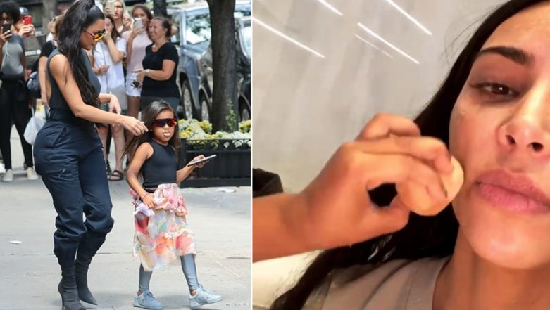 Kim Kardashian Receives a Makeover by Daughter North West, Watch the Cute Video Going Viral All Over the Internet