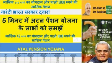 Atal Pension Yojana Subscription Crosses 1.24 Crore in Curent Fiscal: Finance Ministry