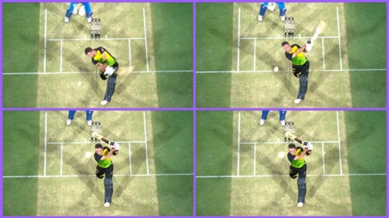 Spidercam 'Saves' Glenn Maxwell During IND vs AUS 1st T20I at the Gabba, Watch Video