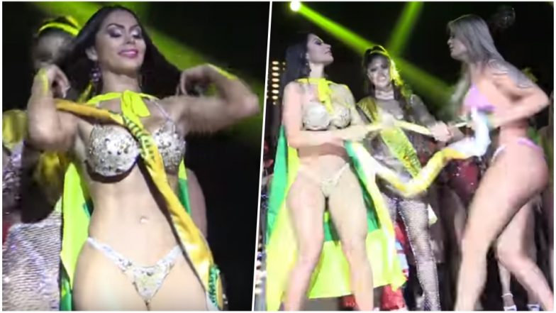 'Fake Bum' Accusations Fly at Miss Bumbum 2018 Contest As Winner's Sash Torn Off by Finalist