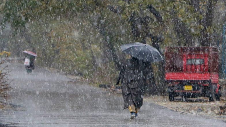 Jammu And Kashmir Rain Snow To Continue In Mountains Till Thursday