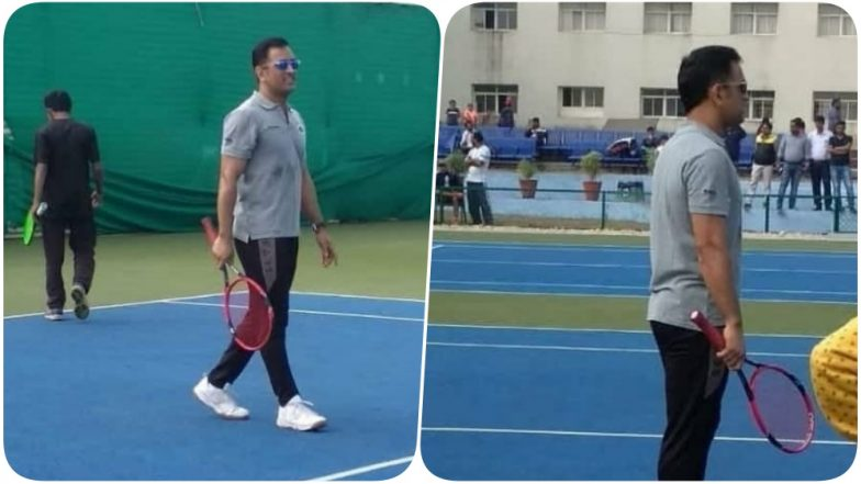 MS Dhoni Debuts on the Tennis Court; Participates in a Local Tournament in Ranchi (Watch Video & Pics)