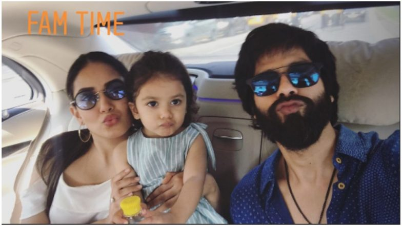 Shahid Kapoor's Daughter, Misha, Pouting With Her Parents in This Family Picture Is the Cutest Thing You Will See on the Internet Today