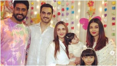 Aaradhya Bachchan Birthday Bash: Esha Deol's Daughter, Radhya, Had Her Eyes Only for Aishwarya Rai Bachchan and We Can Totally Relate to Her – View Pic