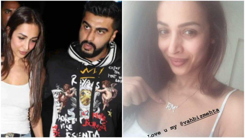 Malaika Arora Wears an 'AM' Pendant and We Wonder If It Stands for Beau Arjun Kapoor or Son, Arhaan Khan