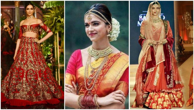 Deepika Padukone Bridal Looks: From a South Indian Bride to a Royal Princess, Here's How the Actress Can Stun Ranveer on Their Big Day