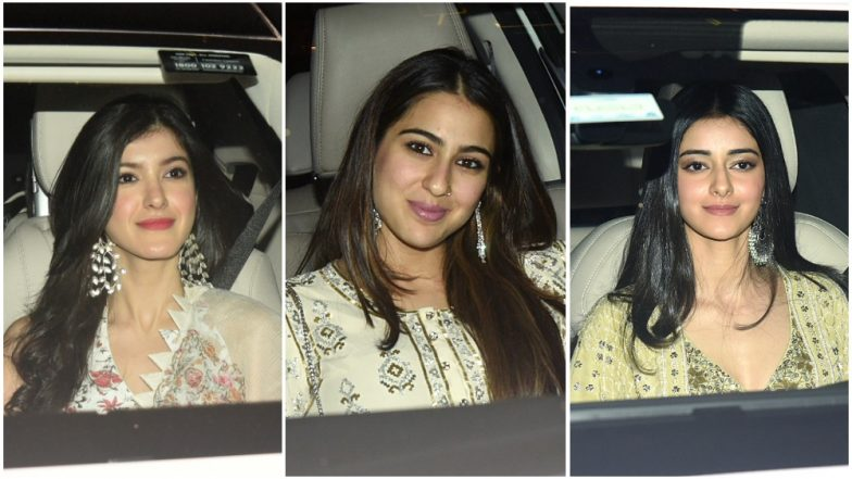 Sara Ali Khan, Ananya Panday, Shanaya Kapoor and Other Celebrities Attend Karan Johar's Diwali Bash – View Pics