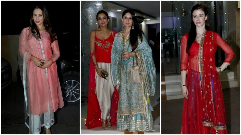 Kareena Kapoor Khan, Amrita Arora, Iulia Vantur, Georgia Adriani and Other Celebs Lit Up Makeup Artist Mallika Bhat's Diwali Bash – View Pics