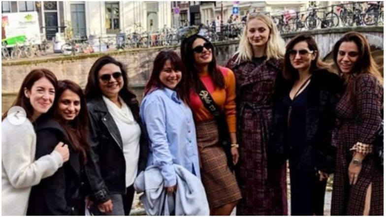 From Giving a Piggyback Ride to Sophie Turner to Sizzling in Her Bachelorette Dress, Priyanka Had a Gala Time With Her Girl Gang – View All Inside Pics and Videos