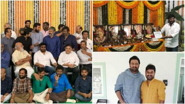 RRR Massive Launch: Chiranjeevi, Prabhas, Rana Daggubati Attend the Muhurat of SS Rajamouli's Film With Jr NTR and Ram Charan But Where Are The Ladies? - View Pics