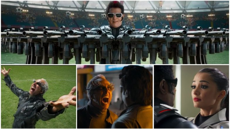2.0 Trailer: 7 Standout Moments in Rajinikanth, Akshay Kumar and Amy Jackson's Sci-fi Action Thriller Promo That You Should Watch Out For!