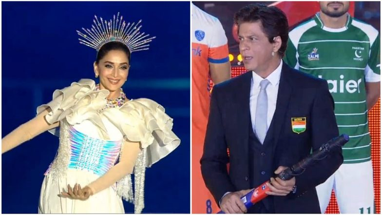 Hockey World Cup 2018 Opening Ceremony: While SRK Recites His Iconic 'Sattar Minute Hain Tumhare Pass' Dialogue, Madhuri Dixit Amazes with Her Dance Performance