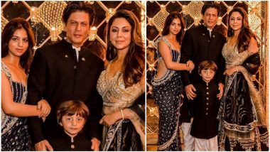 This Picture of Shah Rukh Khan With Gauri Khan, AbRam and Suhana Proves 'Family That Twins Together Stays Together'