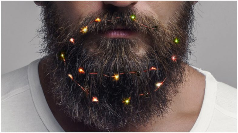 Christmas 2018 Trends: Beard Lights For Men Brightens Up The Holiday Season