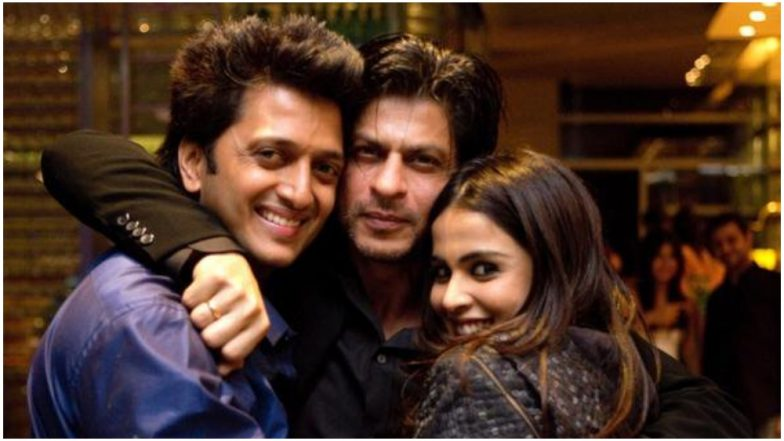 Riteish deshmukh and Shah Rukh Khan