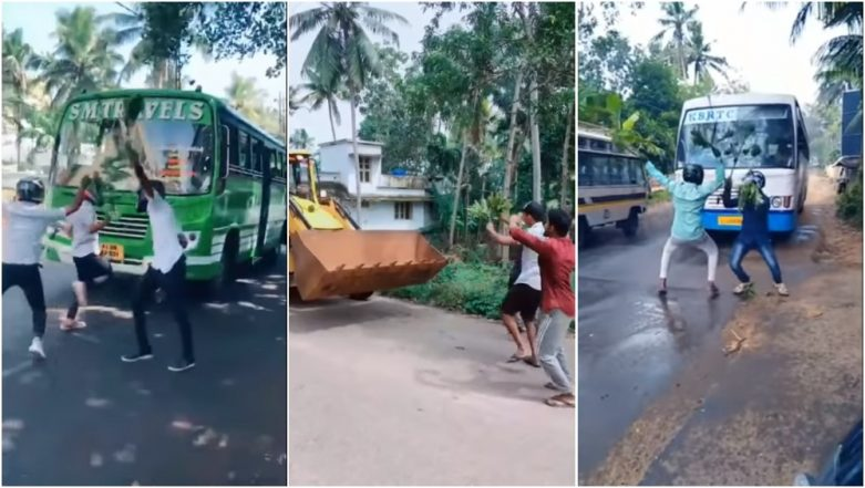 As Nillu Nillu Challenge Goes Viral, Kerala Police Issues Warning Against Jumping in Front of Vehicles (Video)