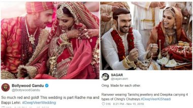 Ranveer Singh and Deepika Padukone Wedding Pictures Give Twitter New Ideas For Memes and Jokes - Check Tweets