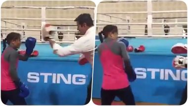 Mary Kom Throws Punches at Sports Minister Rajyavardhan Rathore In a Friendly Bout (Watch Video)
