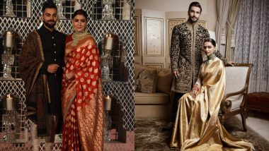 Deepika Padukone-Ranveer Singh or Anushka Sharma-Virat Kohli: Whose Wedding Reception Look by Sabyasachi Did You Like More? View Pics