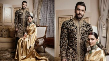 Deepika Padukone-Ranveer Singh Post Pictures of Their Wedding Reception OOTN and We Thank Them for Not Making Us Wait This Time