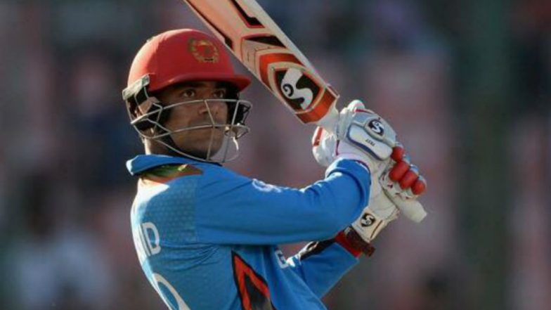 Rashid Khan Emulates MS Dhoni's Helicopter Shot During T10 League; Rishabh Pant Praises Afghanistani Spinner!