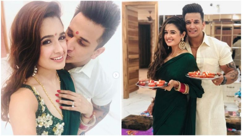 Prince Narula and Yuvika Chaudhary Share Pics From Their First Diwali Celebrations, Post Marriage