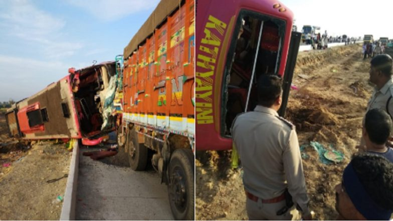 Karnataka Road Accident: 6 Killed, 10 Injured Near Hubli in Collision Between Bus and Lorry on NH-63
