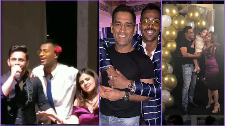 MS Dhoni, Hardik Pandya and Rahul Vaidya Steal the Show at Sakshi's Birthday Party; See Videos & Pics