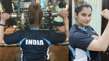 Sania Mirza Hits the Gym for the First Time Post-Pregnancy in India Jersey, See Pic