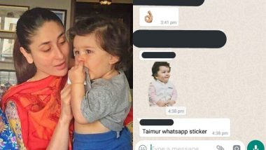 After a Doll, Taimur Ali Khan Gets WhatsApp Stickers Bsaed On Him - View Pics