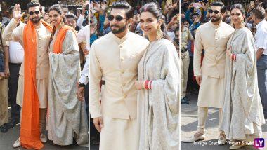 Deepika Padukone and Ranveer Singh Visit Siddhivinayak Temple to Take Blessings - See Pics