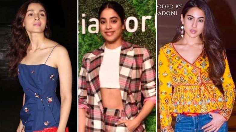 Alia Bhatt, Janhvi Kapoor and Sara Ali Khan's Impeccable Style Statements Prove They Are the New Fashionistas in Town – View Pics