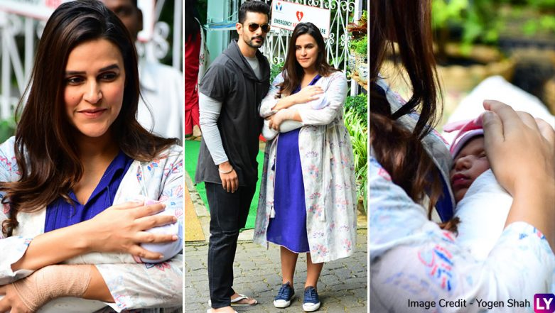Neha Dhupia and Angad Bedi's Daughter Mehr Makes Her Paparazzi Debut – View Pics