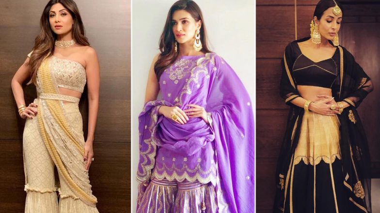Malaika Arora, Kriti Sanon and Shilpa Shetty's Not-So-Great Ethnic Outings Put Them in Our Worst-Dressed List – View Pics
