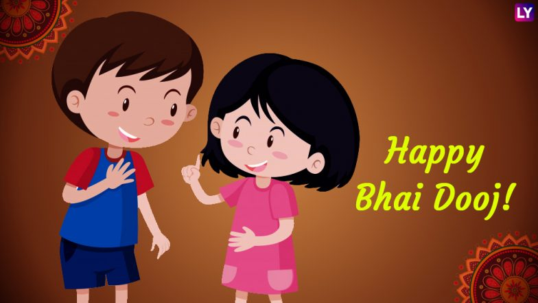 Bhai Dooj 2018 Greetings: WhatsApp Stickers, Facebook Status, Bhai Tika GIF Image Messages and SMS to Wish Brothers and Sisters on Bhau Beej