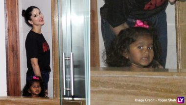 Sunny Leone's Daughter Nisha Saying Hi To Paparazzi Will Make You Go Awww-View Pics!