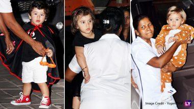 Taimur Ali Khan Attends Ahil Sharma's Halloween Bash With Yash and Roohi Johar – View Adorable Pics