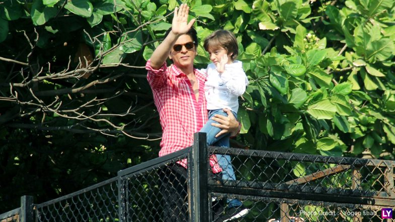 Shah Rukh Khan-AbRam Wave at Their Fans and That's All You Need to See Before Zero Trailer – View Pics