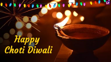 Choti Diwali Images & HD Wallpapers for Free Download Online: Wish Happy Naraka Chaturdashi 2019 With Photos, Hike GIF Messages, WhatsApp Stickers and Roop Chaudas Greetings