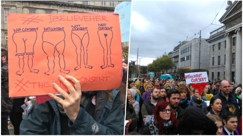 #ThisIsNotConsent Thong Protest Reaches the Streets of Ireland After Teenager Rape Victim's G-String Used in Trial